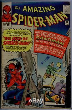 Amazing Spider-Man #18 CGC 3.5 OWithWHITE 1st Ned Leeds (Hobgoblin), 3rd Sandman