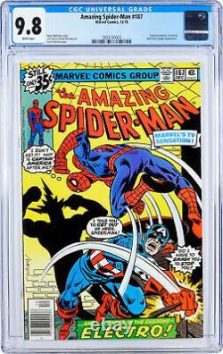 Amazing Spider-Man #187 CGC 9.8 White pages Captain America + Electro app
