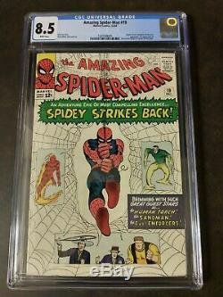 Amazing Spider-Man #19 CGC 8.5 1964 WHITE pages, HIGH GRADE Look at the cover