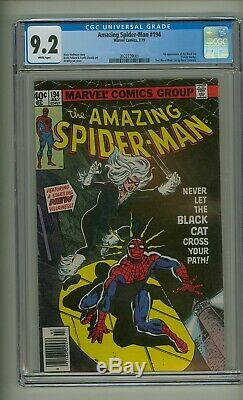Amazing Spider-Man 194 (CGC 9.2) White pages 1st app. Black Cat 1979 (c#23114)