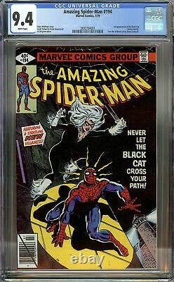 Amazing Spider-Man #194 CGC 9.4 White Pages 1st Appearance of Black Cat