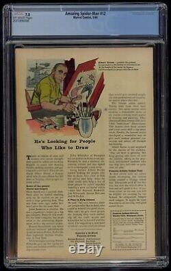 Amazing Spider-Man (1963) #12 CGC 7.0 Blue Label Off-White Pages 3rd Doc Octopus