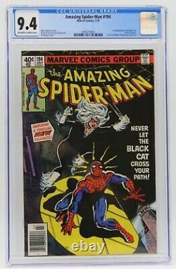 Amazing Spider-Man (1963) #194 CGC 9.4 Blue Lbl Off-White/White Pg 1st Black Cat