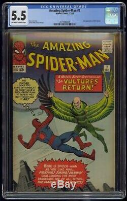 Amazing Spider-Man (1963) #7 CGC 5,5 Blue Label Off-White To White Pages Vulture