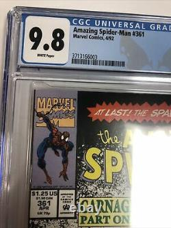 Amazing Spider-Man (1992) #361 (CGC 9.8 White Pages) 1st Appearance of Carnage