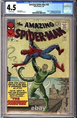 Amazing Spider-Man 20 CGC 4.5 White 1st Appearance of Scorpion