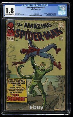 Amazing Spider-Man #20 CGC GD- 1.8 Off White to White 1st Print 1st Scorpion