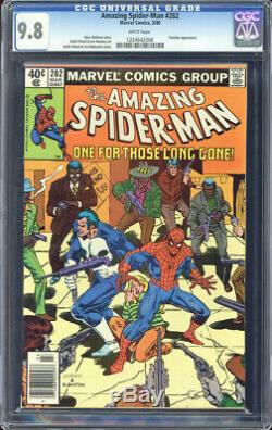 Amazing Spider-Man #202 CGC 9.8 WHITE PAGES Punisher appearance