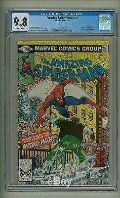 Amazing Spider-Man 212 (CGC 9.8) White pgs Origin/1st app. Hydro-Man (c#23297)