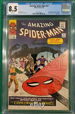 Amazing Spider-Man #22 Marvel Silver Age 1965 CGC 8.5 VF+ White