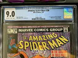 Amazing Spider-Man #238 CGC 9.0 White Pages With Tattoos! St App of Hobgoblin