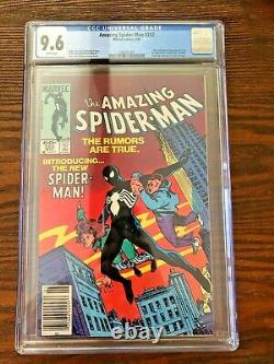 Amazing Spider-Man #252 CGC 9.6 NM+ White Pages Newsstand (1984) Black Suit