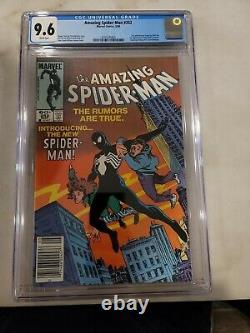 Amazing Spider-Man #252 CGC 9.6 Newsstand SUPER WHITE PG1st Black Suit Symbiote