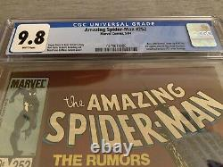 Amazing Spider Man 252 CGC 9.8 First Appearance of Black Costume WHITE PAGES