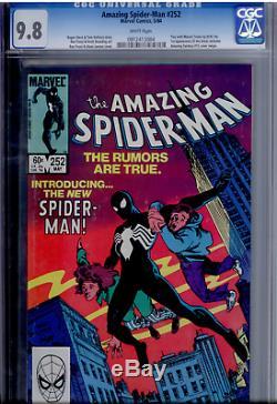 Amazing Spider-Man #252 CGC 9.8 WHITE 1st Black Costume KEY ISSUE