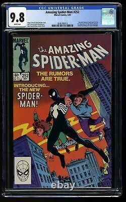 Amazing Spider-Man #252 CGC NM/M 9.8 White Pages 1st Black Costume