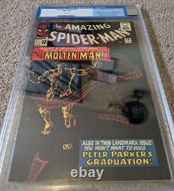 Amazing Spider-Man #28 CGC 8.5 WHITE Origin & 1st Molten Man RARE high grade