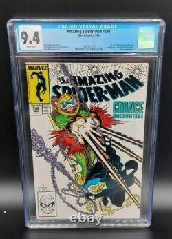 Amazing Spider-Man #298 (1988, Marvel) Eddie Brock Venom CGC 9.4 White Pages