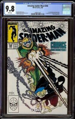 Amazing Spider-Man # 298 CGC 9.8 White (Marvel, 1988) 1st Eddie Brock in cameo
