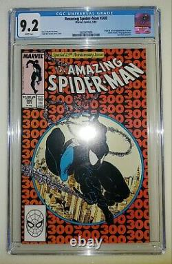 Amazing Spider-Man #299 & #300 CGC 9.2 White Pages 1st Venom Appearance