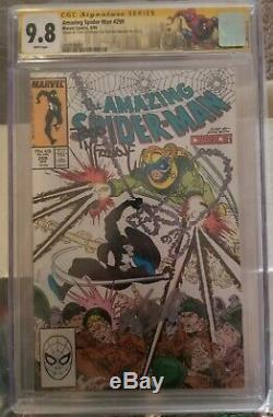 Amazing Spider-Man #299 CGC 9.8 SS White Pages Todd Mcfarlane/Stan Lee Signed