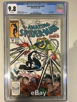 Amazing Spider Man- 299 Cgc 9.8 Marvel Comics 1988 White Pages Venom