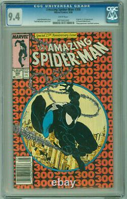 Amazing Spider-Man #300 CGC 9.4 WHITE PAGES McFarlane 1st Venom Newsstand UPC