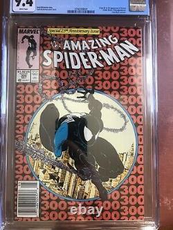 Amazing Spider-Man 300 CGC 9.4 WHITE PAGES McFarlane Venom Newsstand SWEET