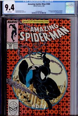 Amazing Spider-Man #300 CGC 9.4 WHITE pages 1st Full Venom Hot Book