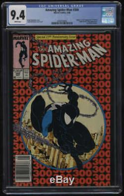 Amazing Spider-Man #300 CGC 9.4 White Pgs 1st Appearance Venom Newstand