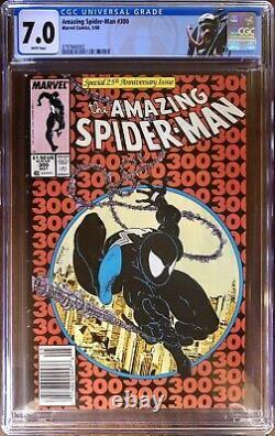 Amazing Spider-Man #300 NEWSSTAND CGC 7.0 1st Venom White Pages McFarlane