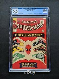 Amazing Spider-Man #31 CGC 5.5 1st Gwen Stacy Marvel Silver Age Key White Pages