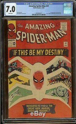 Amazing Spider-Man #31 CGC 7.0 1st app of Gwen Stacy (White Pages) Stan Lee 1965