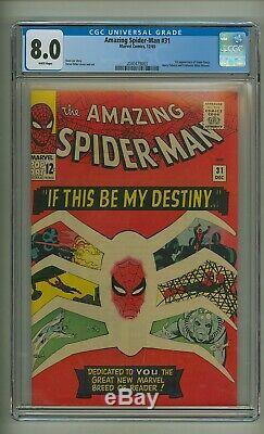 Amazing Spider-Man 31 (CGC 8.0) White pgs 1st app. Gwen Stacy Ditko (c#23950)