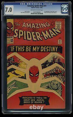 Amazing Spider-Man #31 CGC FN/VF 7.0 Off White to White 1st Gwen Stacy