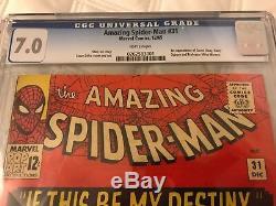 Amazing Spider-Man #31 Dec 1965, Marvel Comics, CGC Grade 7.0 WHITE PAGES