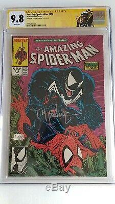 Amazing Spider-Man #316 CGC 9.8 SS Signed Todd McFarlane WHITE PGS VENOM