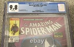 Amazing Spider-Man #316 CGC 9.8 WHITE PAGES Todd McFarlane 1st Venom Cover 300
