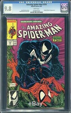 Amazing Spider-Man #316 CGC 9.8 WHITE Pages Venom & Black Cat appearance
