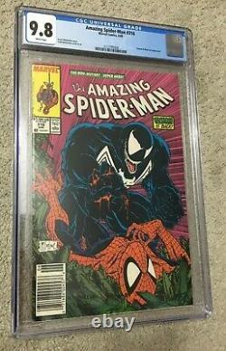 Amazing Spider-Man #316 CGC 9.8 WHITE Todd McFarlane 1st Venom Cover NEWSSTAND
