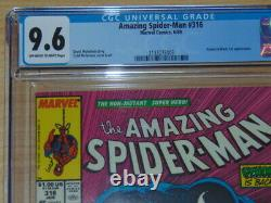 Amazing Spider-Man #316. CGC NM+ 9.6. Off-White to White Pages. McFarlane, Todd