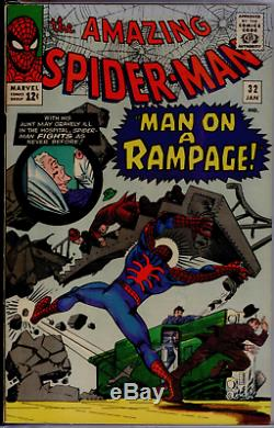 Amazing Spider-Man #32 CGC 8.5 Off-WHITE Doctor Octopus 1st Aunt May cover app