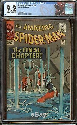 Amazing Spider-Man #33 CGC 9.2 (OWithWhite) Stan Lee & Steve Ditko, 1966