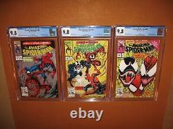 Amazing Spider-Man 361 (2nd) 362 363 CGC 9.8s! WHITE pgs! BONUSES 12 pix INSURED