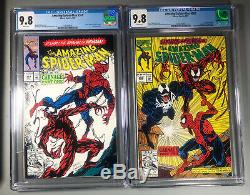 Amazing Spider-Man #361 & 362 Both CGC 9.8 White Pages 1st Print, 1st Carnage