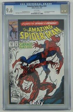 Amazing Spider-Man #361 CGC 9.6 1st full Carnage cletus kasady white pages