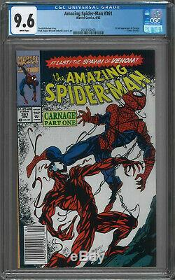Amazing Spider-Man #361 CGC 9.6 White Pages 1st Carnage
