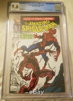 Amazing Spider-Man 361 (CGC 9.6) White pages 1st full app. Carnage