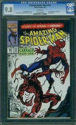 Amazing Spider-Man 361 CGC 9.8 White Pages