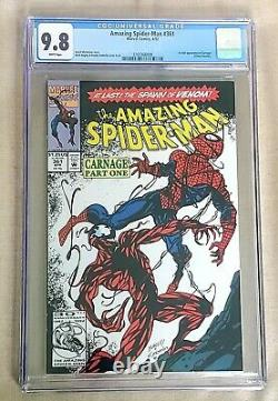 Amazing Spider-Man #361 CGC 9.8 White Pages 1st Appearance of Carnage